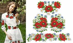Заготовка плаття для вишивки бісером/нитками на натуральній тканині ПЛд-001