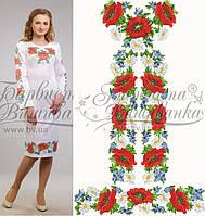 Заготовка плаття для вишивки бісером/нитками на натуральній тканині