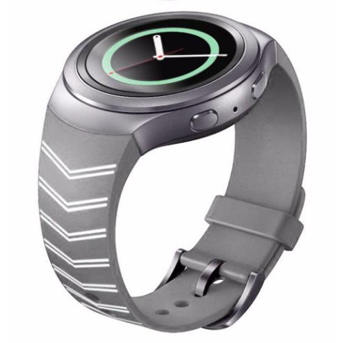 Силиконовый ремешок для часов Samsung Gear S2 Sports SM-R720 / SM-R730 Strip Grey