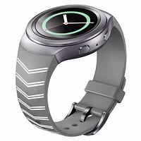 Силиконовый ремешок для Samsung Gear S2 Sports SM-R720 / SM-R730 Strip Grey