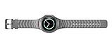 Силиконовый ремешок для часов Samsung Gear S2 Sports SM-R720 / SM-R730 Strip Grey, фото 3