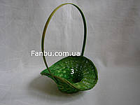 "Маленькая зеленая корзина ""шляпка"" №3"