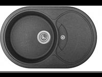 Мойка гранитная 76*50 см черная глубина 18 см неликвид №1