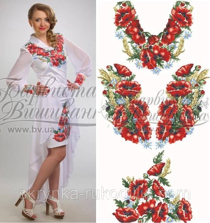 226865ad80b Заготовка плаття для вишивки бісером нитками на натуральній тканині ...