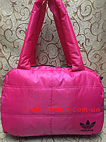 Спортивная сумка адидас Хлопок/Женские сумка дутики стильный  adidas(только оптом), фото 1