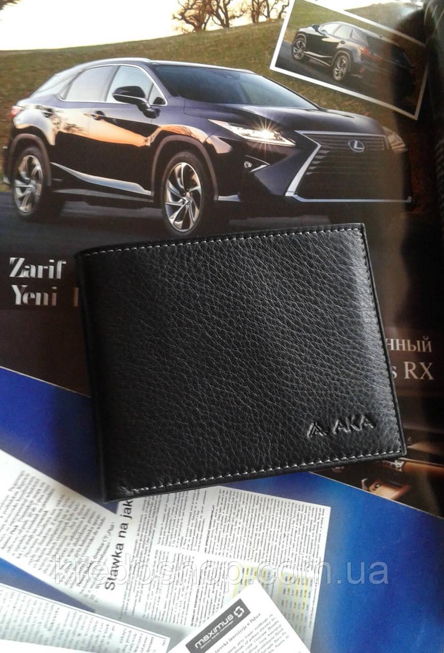 2a21f63b55e6 Кожаное портмоне мужское черное фирмы AKA Deri - Интернет-магазин сумок и  аксессуаров