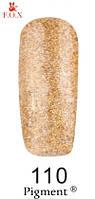 Гель лак FOX №110 (золотистые блестки с голографическим эффектом) 12 мл