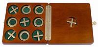 Настольная игра Крестики-Нолики в коробке из натурального дерева  Duke S10R