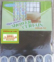 Шторка для ванной комнаты Shower curtain, однотонная коричневая. Размер 200х180 см.