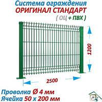 Системы ограждений  Стандарт Колор (ОЦ.+ПВХ) 2500 х 1200