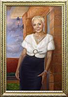 Портрет маслом на холсте Киев, портрет маслом в Киеве по фотографии.