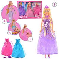 Кукла Defa 29см, платье перед в хвост русалки, расчес, 2 цвета, в кор. 45*32*5с (12шт)