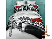 Комплект постельного белья Семейный  Love You 160х220 3D Сатин Сити stp 565