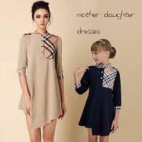 Платье в стиле Барбери с планочкой на груди
