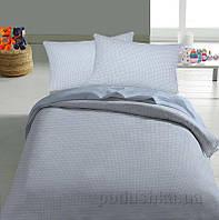 Детское постельное белье TM Nostra Бязь Rainforce светло-голубой клетка Полуторный комплект