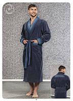 Мужской халат Nusa NS 12710 синий XXL