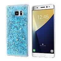 Чехол для Samsung Galaxy Note Fan Edition N935 силиконовый с блестками, фото 1