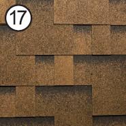 Битумная черепица RoofShield Модерн 0.0, 25, Roofshield Shingle, Плоская, Классик медный