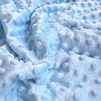 Плюш Minky голубого цвета