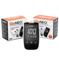 Акционный набор Глюкометр GluNeo (ГлюНео) со 100 тест-полосками