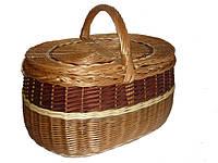 Корзина для пикника плетеная из лозы