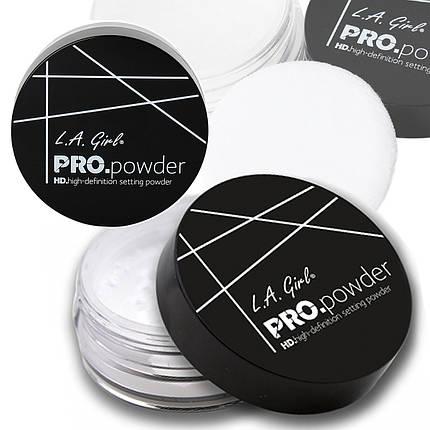 Прозрачная пудра для лица L.A. Girl HD PRO Setting Powder, фото 2