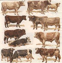 Декупажні серветки Корови 6382