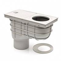 Дождеприемник с вертикальным выпуском для отвода воды с водосточной трубы к канализации Серый 325 Es