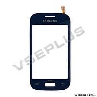 Тачскрин (сенсор) Samsung S6310 Galaxy Young / S6312 Galaxy Young Duos, синий