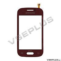 Тачскрин (сенсор) Samsung S6310 Galaxy Young / S6312 Galaxy Young Duos, красный
