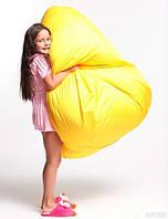 Дитяче крісло мішок груша жовте 100 * 75 см з тканини Оксфорд