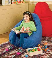 Дитяче крісло мішок груша синє 100 * 75 см з мікро-рогожки