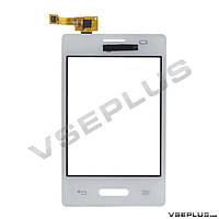 Тачскрин (сенсор) LG E425 Optimus L3 II, белый