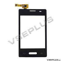 Тачскрин (сенсор) LG E425 Optimus L3 II, черный