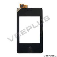 Тачскрин (сенсор) Nokia Asha 500 Dual Sim, черный