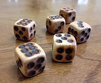 Кубики деревянные из можжевельника, 5шт