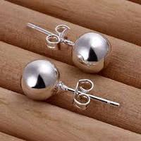 Серьги Tiffany простые шарики (TF138). Покрытие серебром 925 - ОПТ