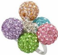 Кольцо TN756. Серебро 925. Swarovski crystals, размер 18 - ОПТ