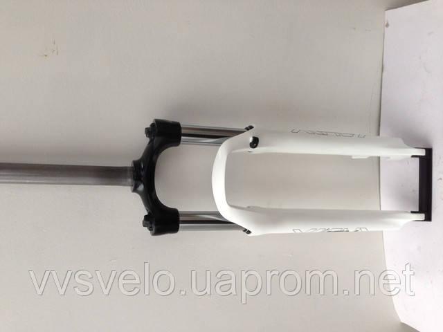 Вилка велосипедная Suntour SF 13-XCM-DS-26-100 Disk белая ,черная