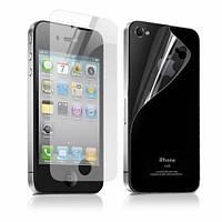 Защитная пленка для мобильного телефона Apple Iphone 4 / 4S комплект (перед+зад) матовая