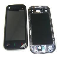 Сенсорный экран Nokia N97 mini с рамкой черного цвета