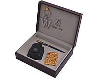 """Подарочный набор """"ZHILIDE"""" 4в1 зажигалка,брелок,ручка,чехол"""