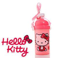 """Бутылочка с трубочкой """"Hello Kitty (Хеллоу Китти)"""""""