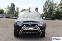Renault Duster 2008+ гг. Кенгурятник WT01 (нерж)