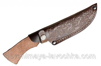 Кожаный чехол для нескладного ножа средней длинны-№4