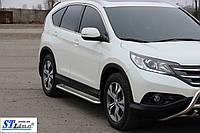 Honda CRV 2012+ Боковые пороги KB001 42мм