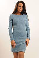 Теплое облегающее женское платье мини из ангоры в расцветках.