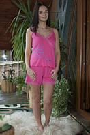 Стильная женская пижама розового цвета