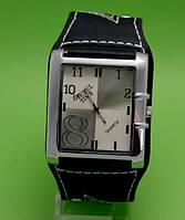 """Мужские молодежные часы на кожаном ремне, прямоугольной формы Diesel Time в металлическом корпусе """"Пектолит"""""""