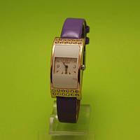 """Детские наручные часы с золотым корпусом и тонким фиолетовым ремешком """"Каникулы"""""""